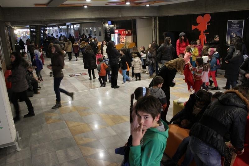 Corridors during children's festival.